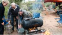 'The Donkey' provides steaming hot water to trekkers on demand |  <i>Caroline Crick</i>