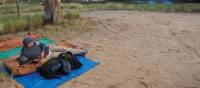 Relaxing at campsite on the Larapinta Trail | Latonia Crockett