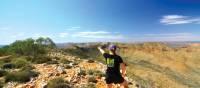 Feeling on top of the world as we descend down Mount Sonder   Linda Murden