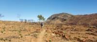 Rocky trail views trekking through Larapinta   Linda Murden