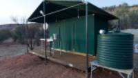 Eco- bathroom facilities with composting toilets and outback showers |  <i>Brett Boardman</i>