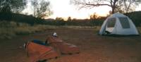 Sleeping in swags on the Larapinta Trek | LIz Rogan