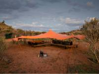 The semi permanent Larapinta Campsites offer comfortable facilities in an outback wilderness |  <i>Caroline Crick</i>