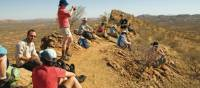Walkers take a break on Euro Ridge on the Larapinta Trail | Aran Price