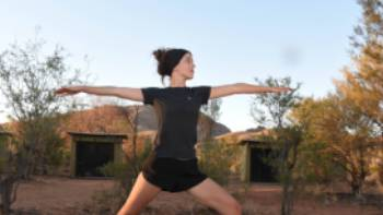 Yoga and mediation sessions on the Larapinta Trail | Andrew Thomasson